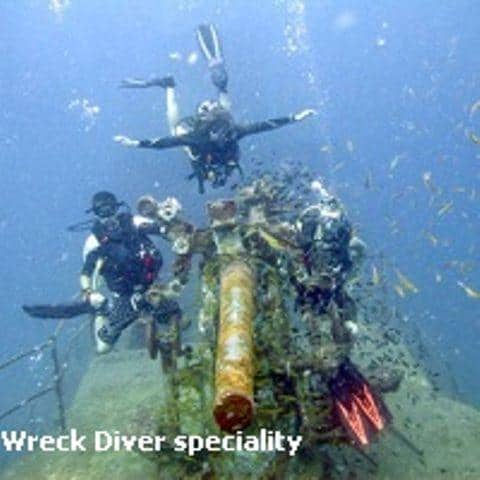 D15nDJL Dving Koh Tao wreck diver speciality
