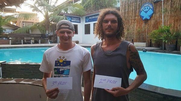 I193Steven Byrnes and William Carter 2nd and 3rd prize in the DJL diving free divemaster competition Copy